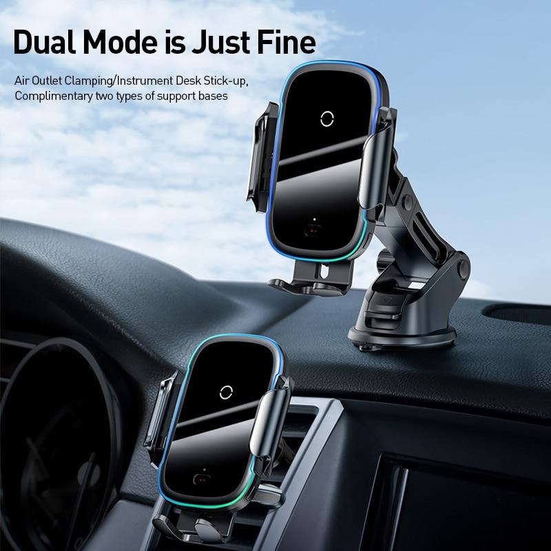 Support de voiture de chargeur sans fil Baseus 15W  support pour téléphone