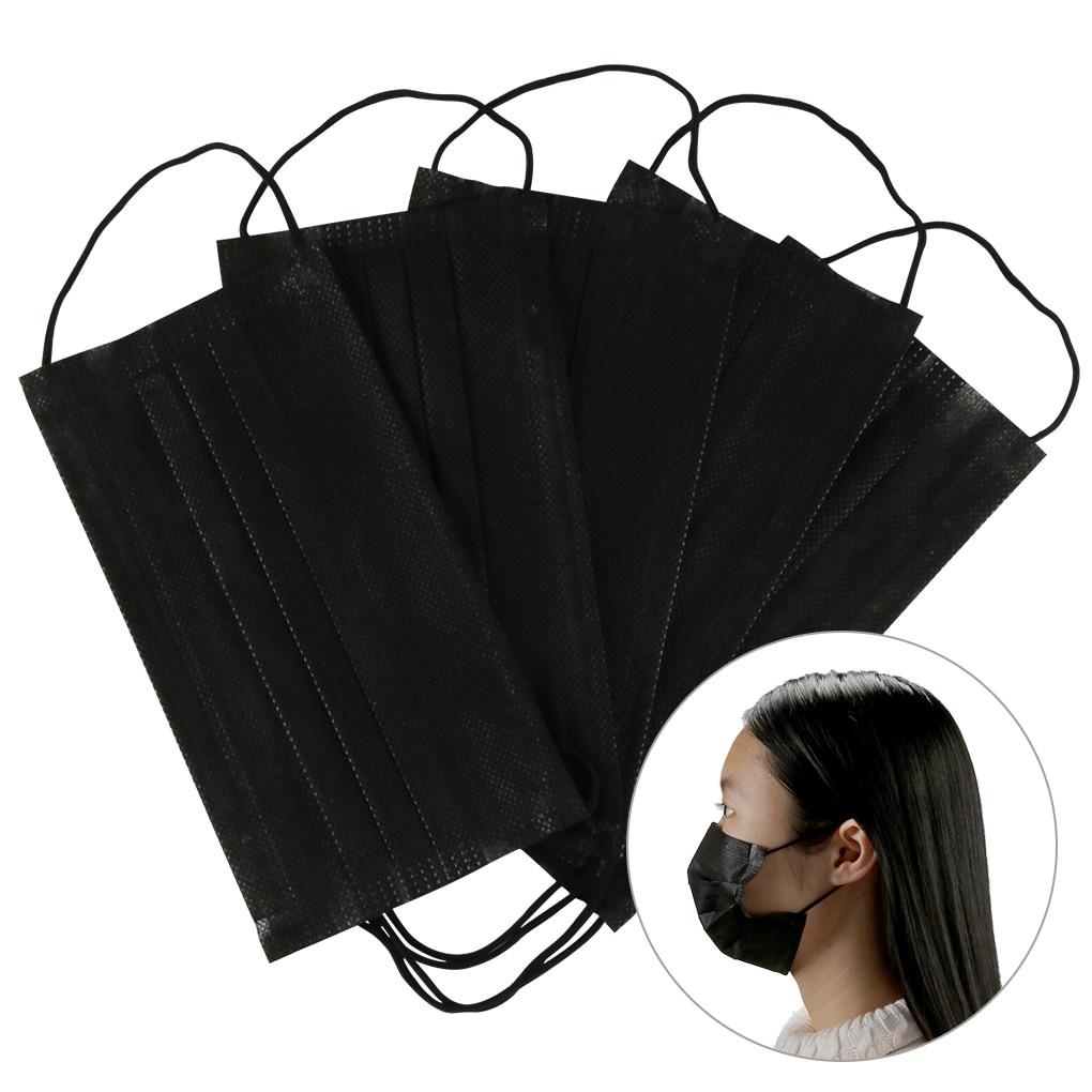 Masques jetables noir bleu rose masque de bouche