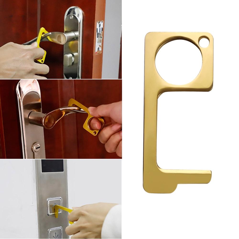 Ouvre-porte de sécurité sans contact ouvre-porte laiton