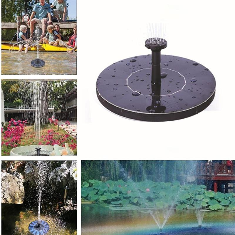 Mini fontaine à énergie solaire jardin piscine étang panneau solaire fontaine flottante