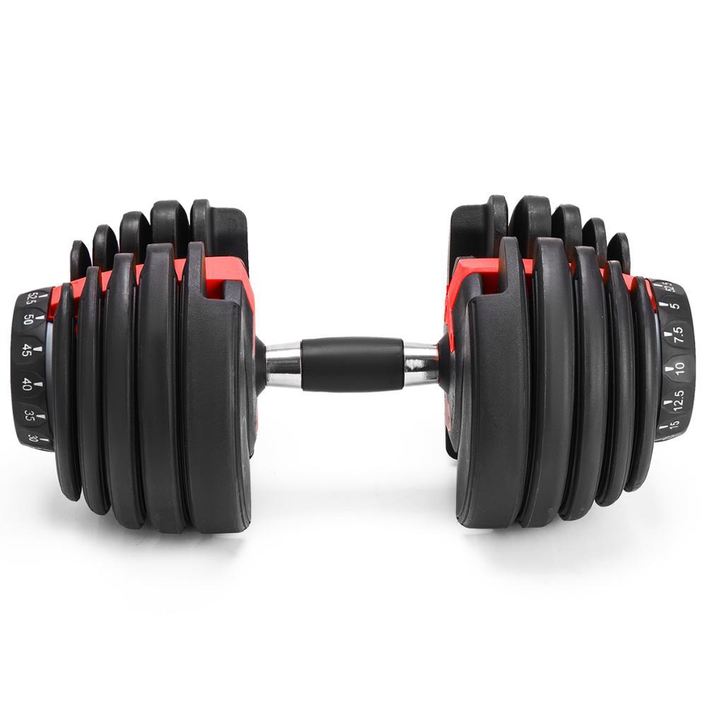 Nouveau poids réglable haltère 2.5 kgs à - 24 kgs Fitness entraînements haltères