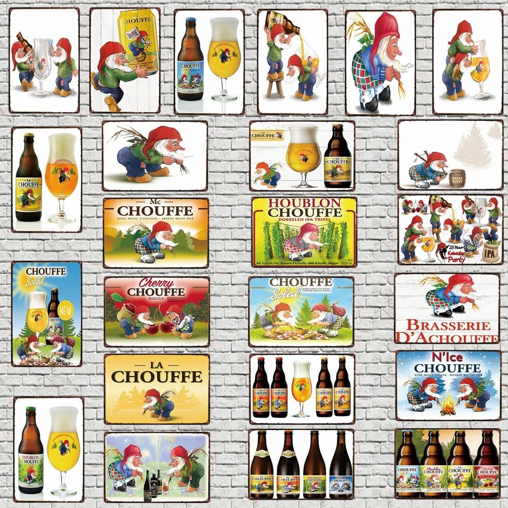 Plaque signes décoratifs de bière belge | Plaque métallique décor 30x20cm
