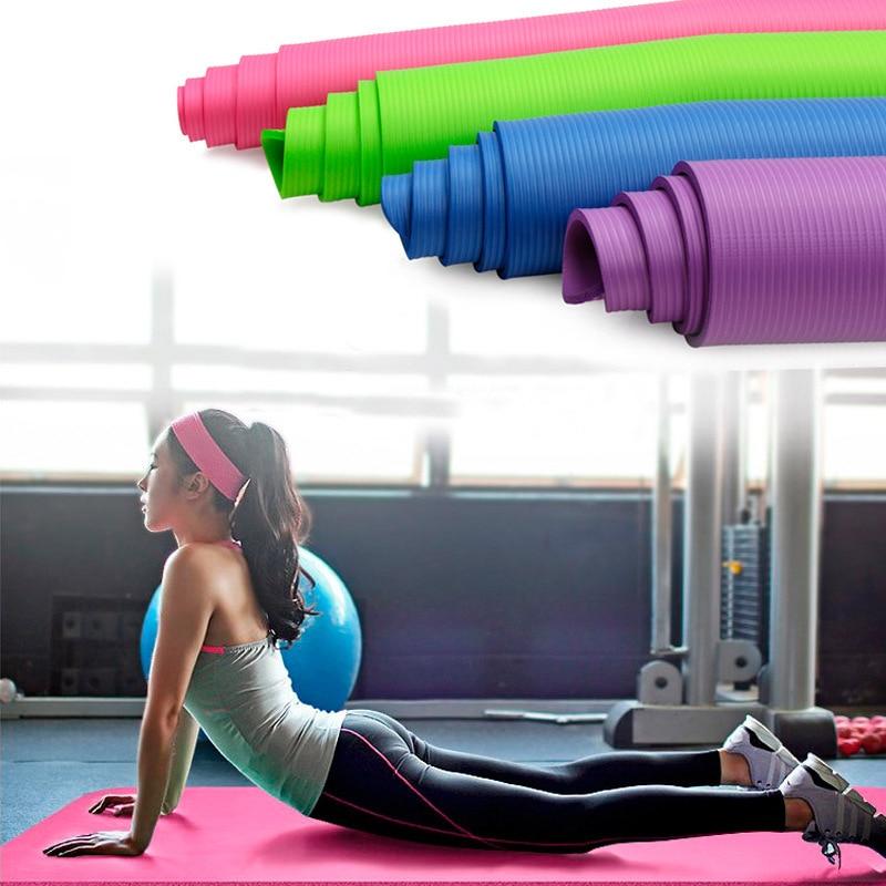 tapis de yoga antidérapant pour la gymnastique épaisseur 10 mm prix bas