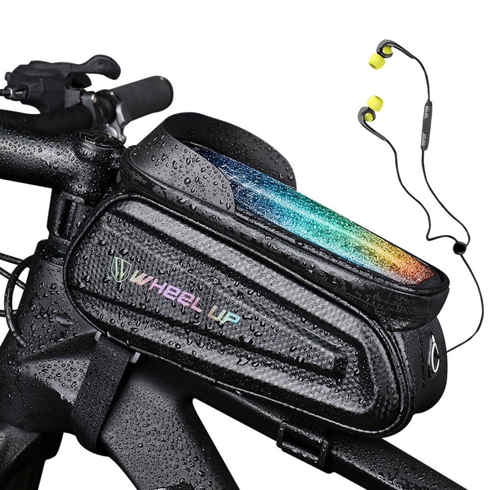 sacoche de cyclisme avec écran tactile coque de téléphone pouces réfléchissant, accessoires de bicyclette pour vtt