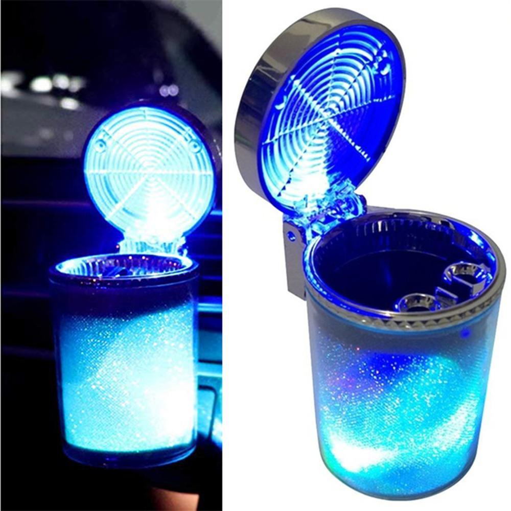 Cendrier de voiture lumière LED Cigarette  support  Auto accessoires