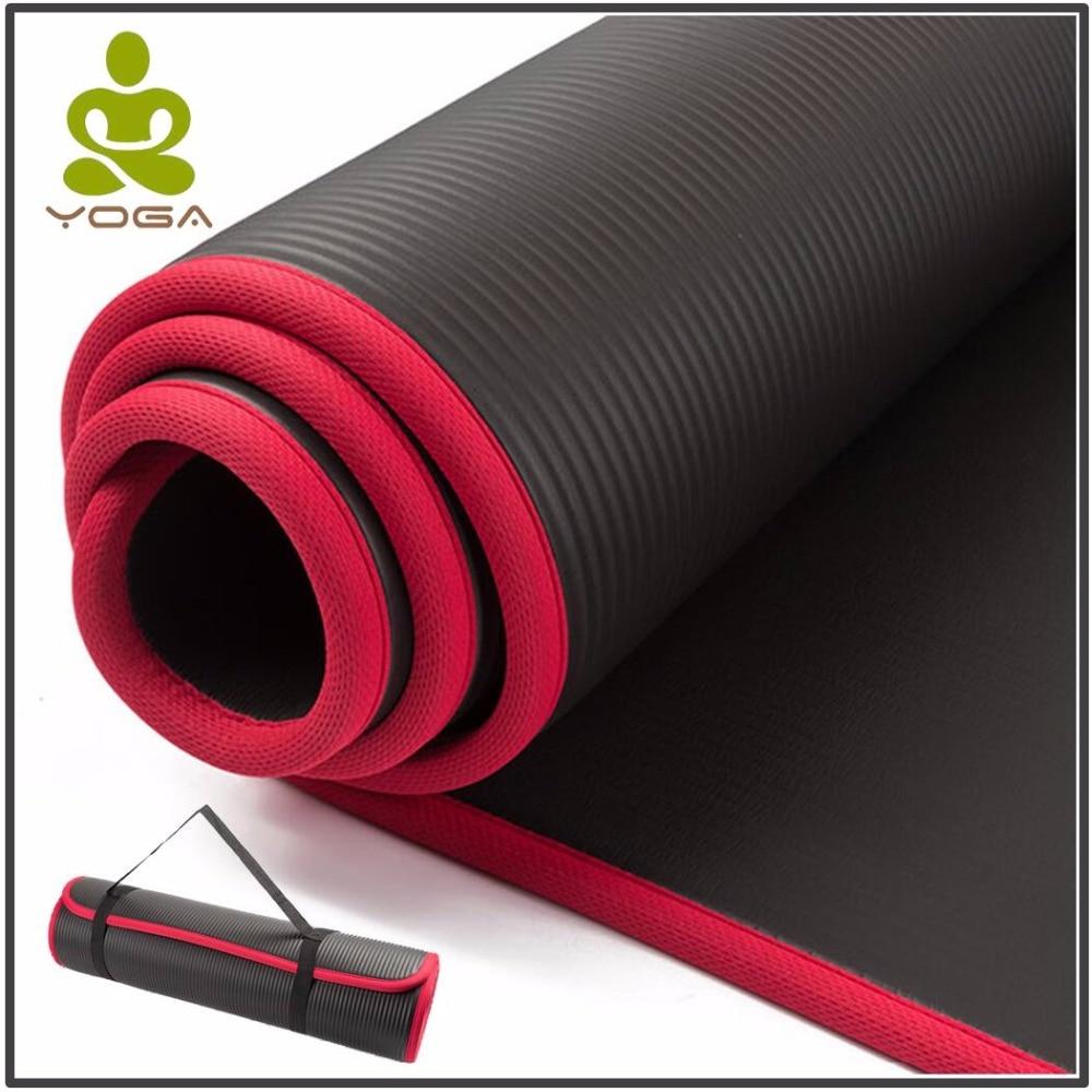 10 MM Extra Épais Haute Qualité NRB Tapis De Yoga Antidérapants Gym Tapis d\'exercice soldes