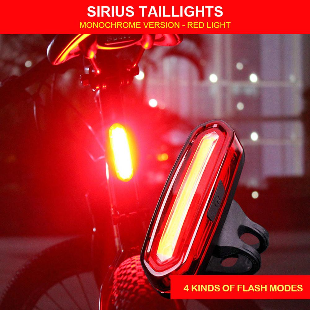 Feu arrière de vélo vélo LED feu arrière USB