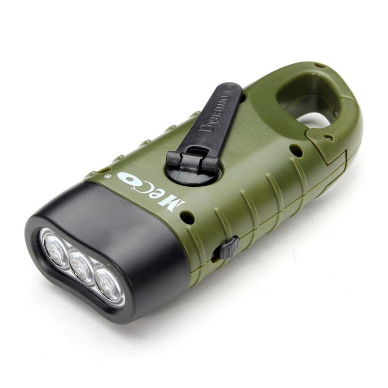 SGODDE Portable sécurité extérieure Mini d\'urgence manivelle solaire lampe écologique