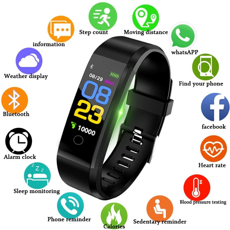 LIGE nouvelle montre intelligente hommes femmes moniteur de fréquence cardiaque pression artérielle Tracker Fitness Smartwatch