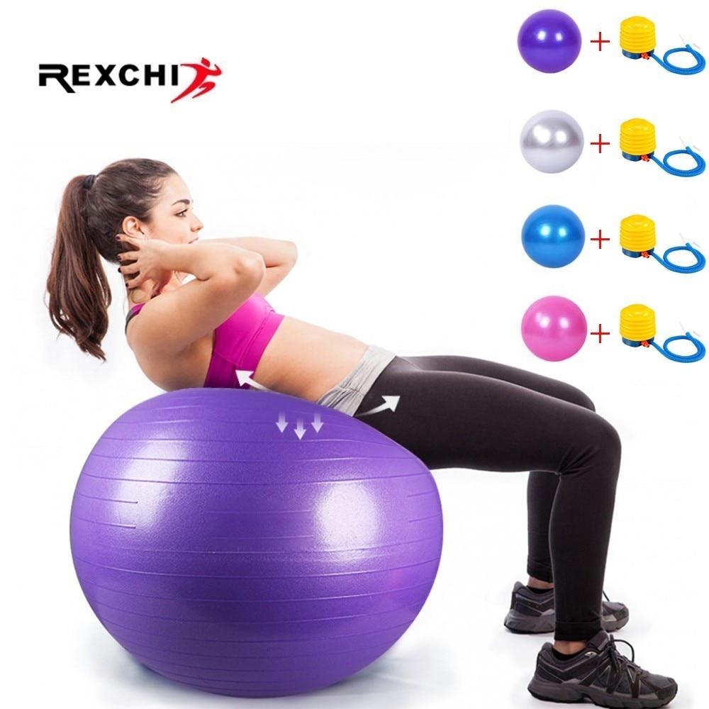 Ballon Fitness Yoga Balle d'Exercice Antidérapant Balle Gymnastique avec Pompe 55 cm 65 cm 75 cm