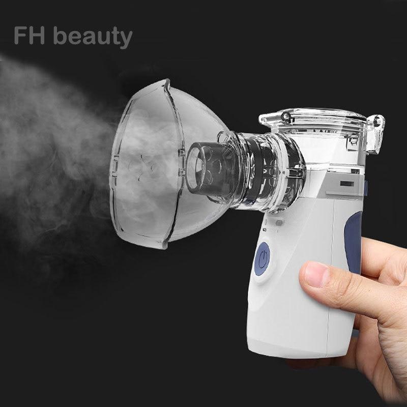 Mini nébuliseur portatif tenu dans la main d\'inhalation de soins de santé nébuliseur ultrasonique silencieux