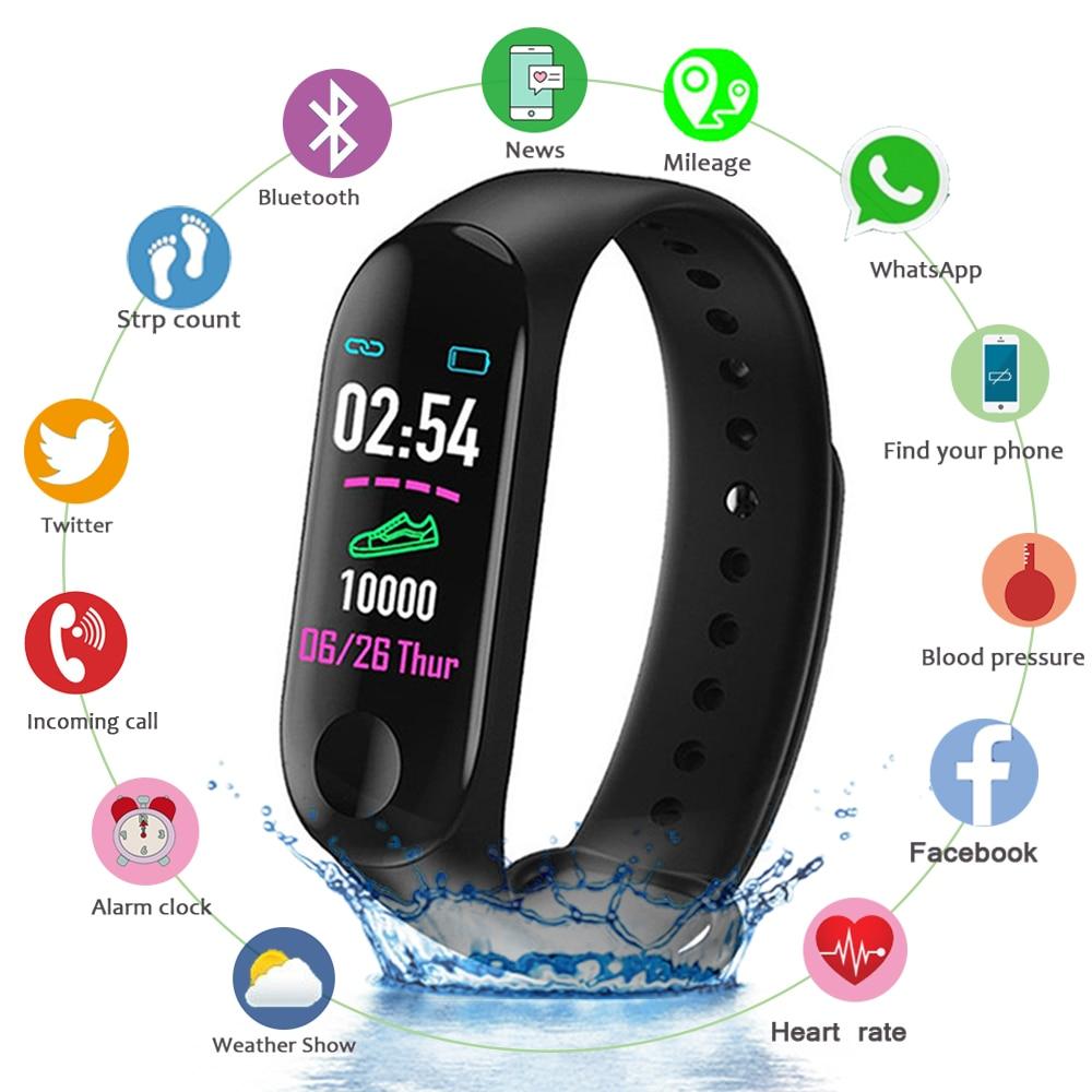 montre intelligente pour hommes couleur écran IP67 étanche tension artérielle fréquence cardiaque Fitness accessoire