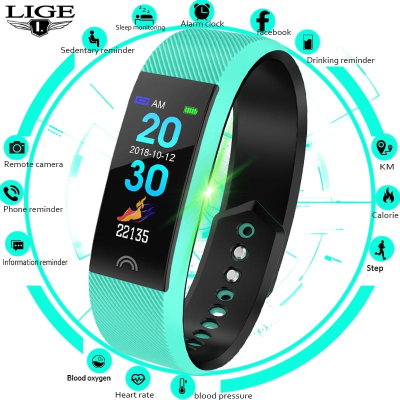 LIGE femmes Fitness Bracelet Sport intelligent montre connectée intelligente Smartwatch pas cher