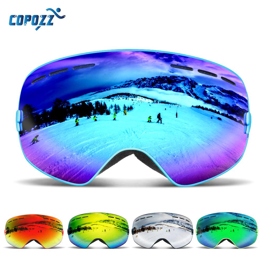 Lunettes de Ski de marque COPOZZ hommes femmes lunettes de Snowboard pour le Ski Protection UV400 lunettes de Ski  masque de Ski Anti-buée