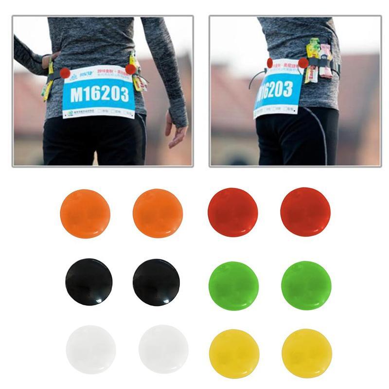4 pièces Marathon Triathlon numéro de course Trail Run tissu boucle numéro de fixation Clip course bavoir numéro ceinture sac accessoires en tissu