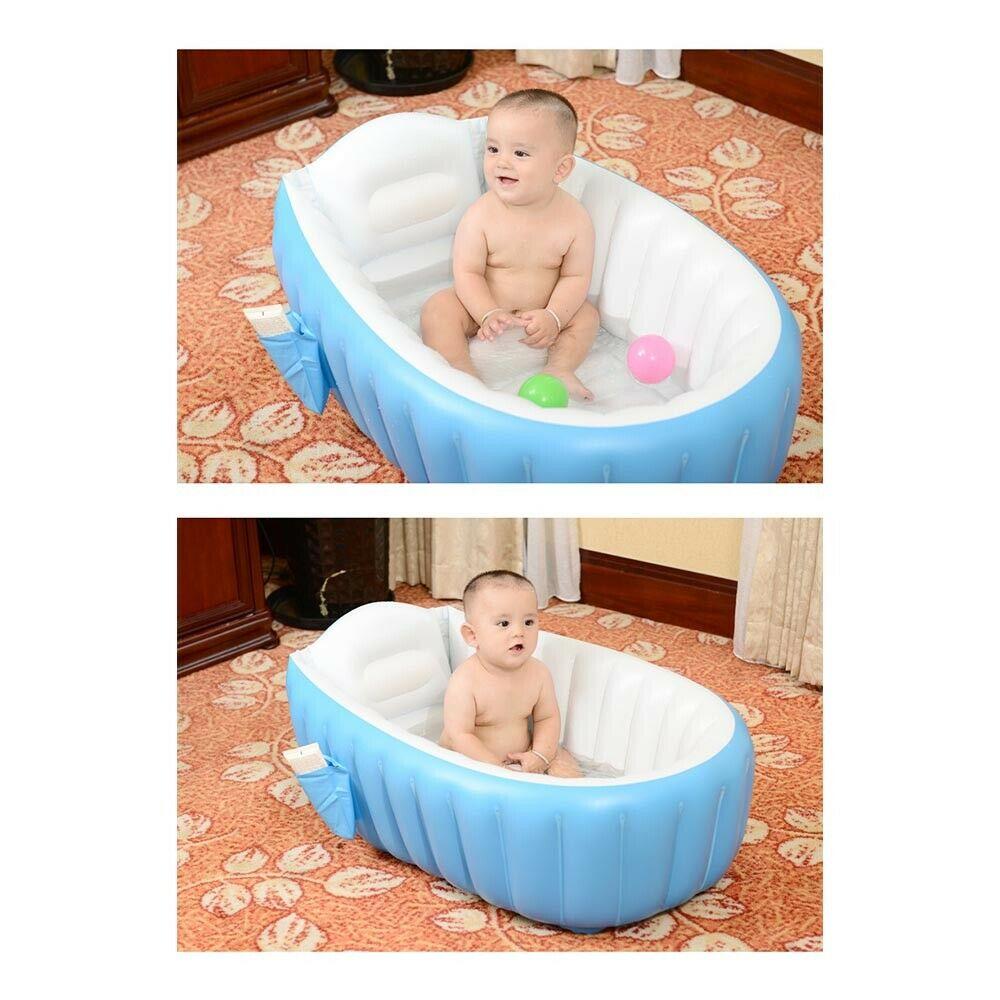 baignoire Portable bébé coussin épais baignoire pliante bain à remous piscine pour enfants