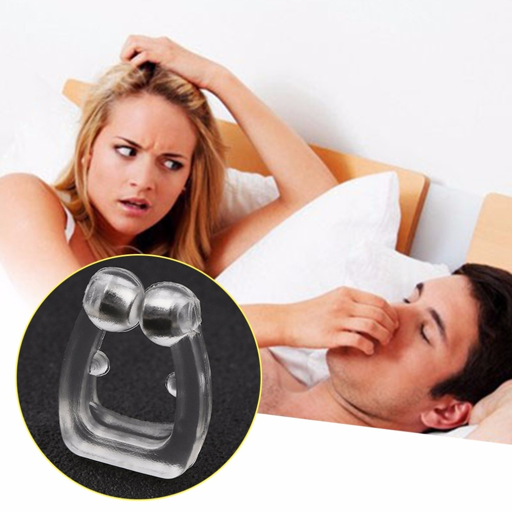 Silicone-magn-tique-Anti-ronflement-arr-ter-ronflement-nez-Clip-plateau-sommeil-aide-au-sommeil-apn