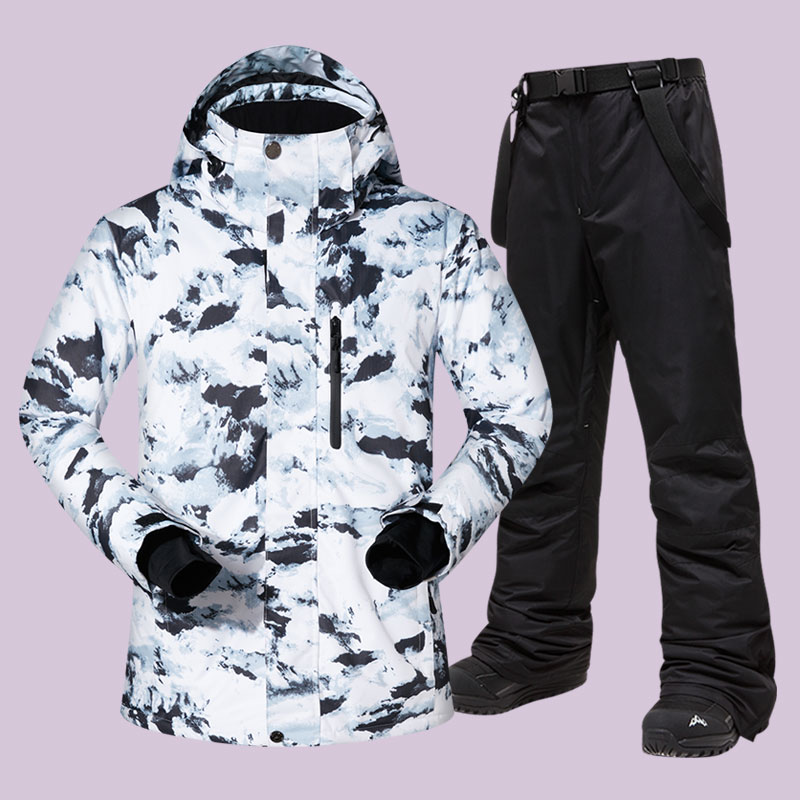 Costume de Ski hommes hiver chaud étanche Sports de plein air vestes et pantalons équipement de Ski