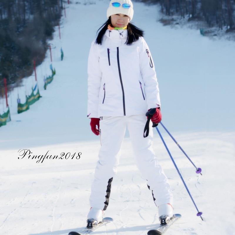 Combinaison de Ski d\'hiver hommes et femmes veste de Ski de haute qualité + pantalon neige pas cher