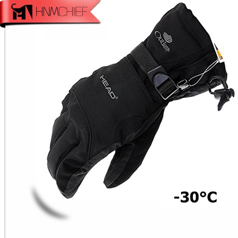 2017 nouveaux gants de Ski pour hommes gants de Snowboard motoneige moto équitation gants d\'hiver