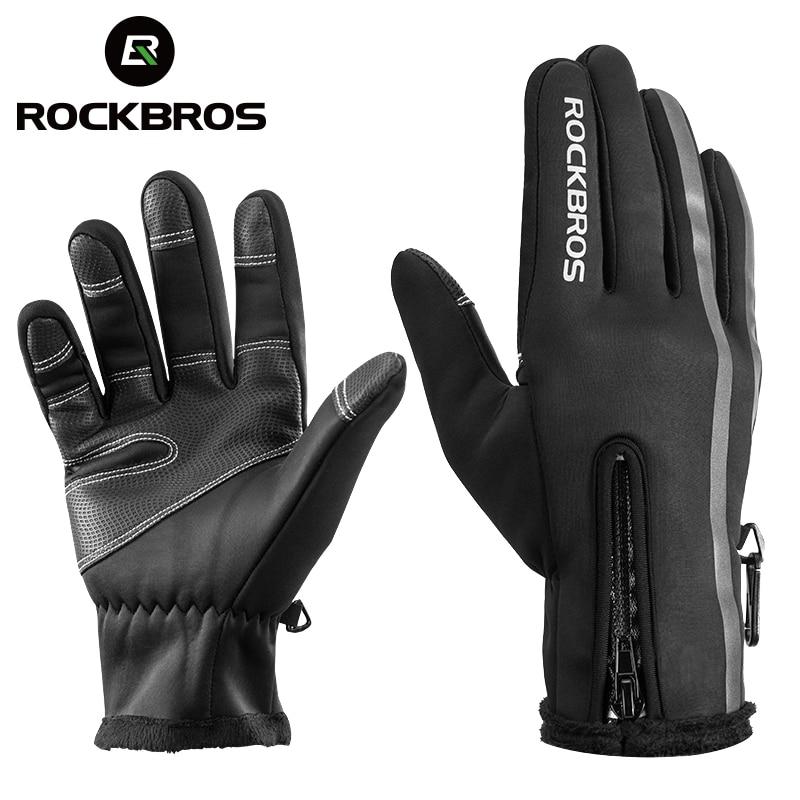 ROCKBROS gants de Ski thermique hommes femmes hiver Ski polaire imperméable Snowboard