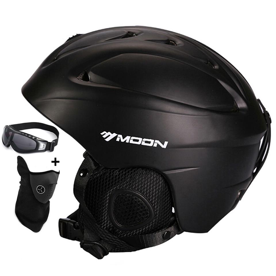 MOON offre spéciale casque de Ski entièrement moulé pour adultes et enfants de neige sécurité Skateboard