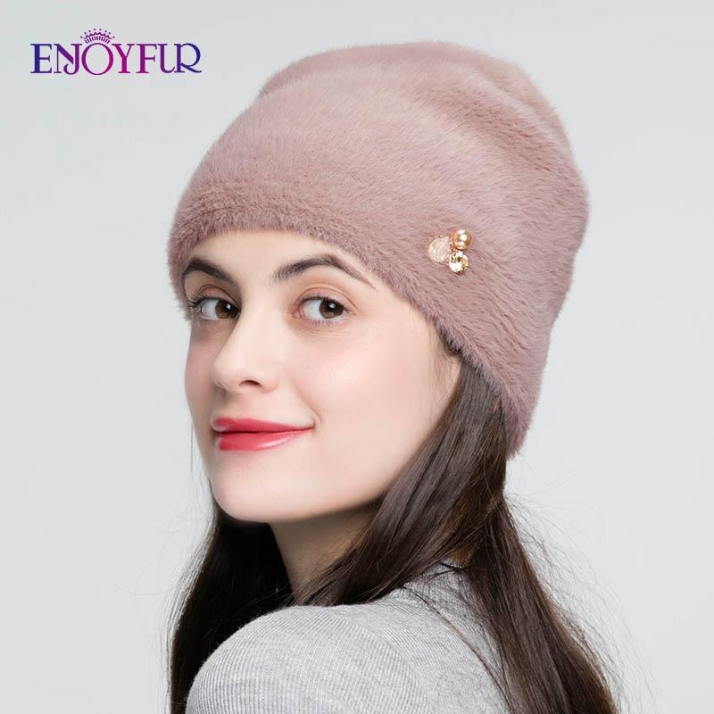 chapeaux pour femmes imiter laine épais Bonnet pour femme solide couleurs haute qualité