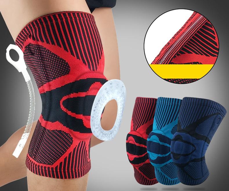 1 pièces genouillère protecteur orthèse soutien arthrite bandage élastique football compression musculaire
