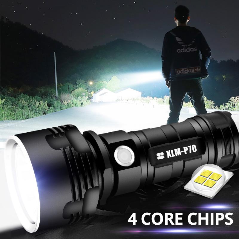 Super puissant lampe de poche LED L2 XHP50 torche tactique USB Rechargeable étanche Ultra lumineux