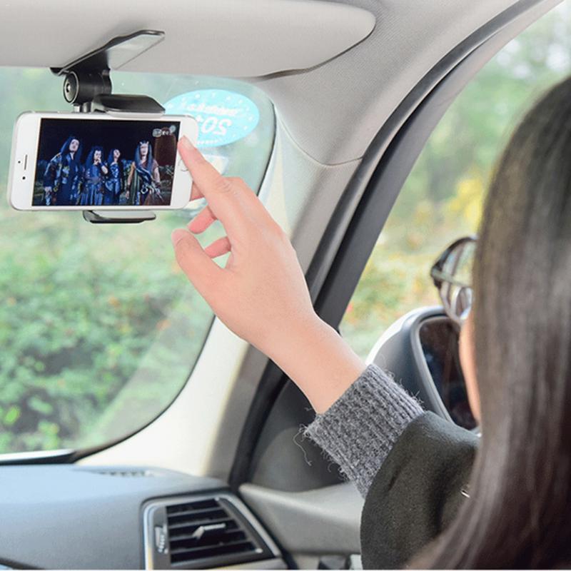 Clip de support pour téléphone mobile  innovant universel sûr pare-soleil voiture support de navigation