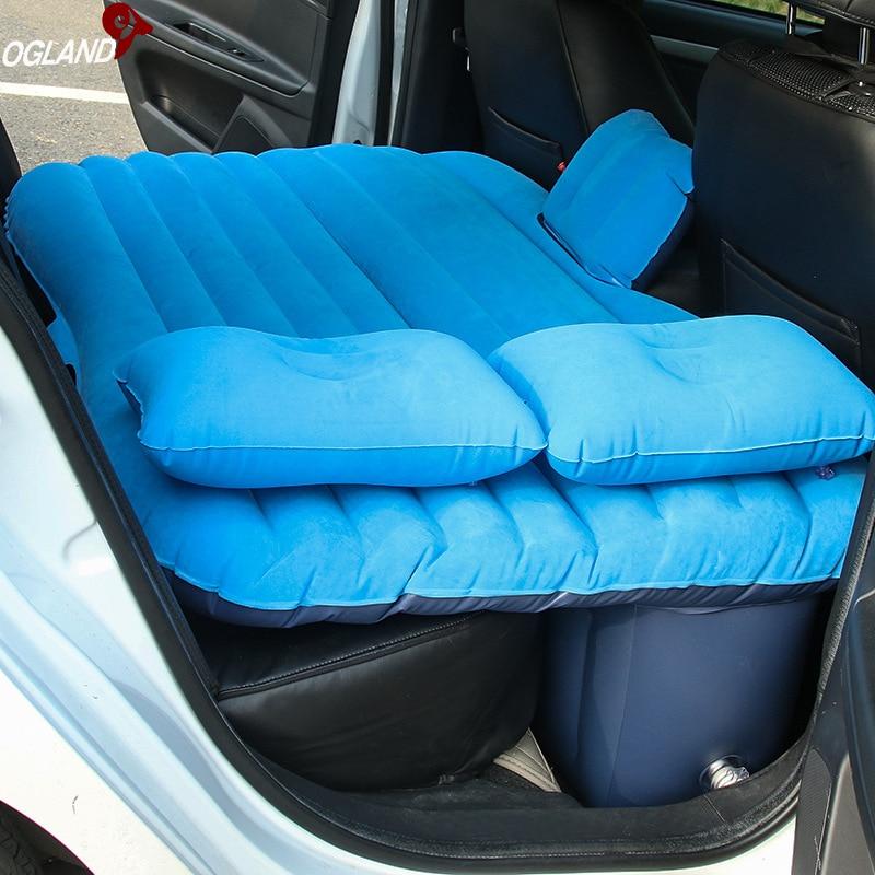 voiture Air gonflable voyage matelas lit pour voiture siège arrière matelas multifonctionnel