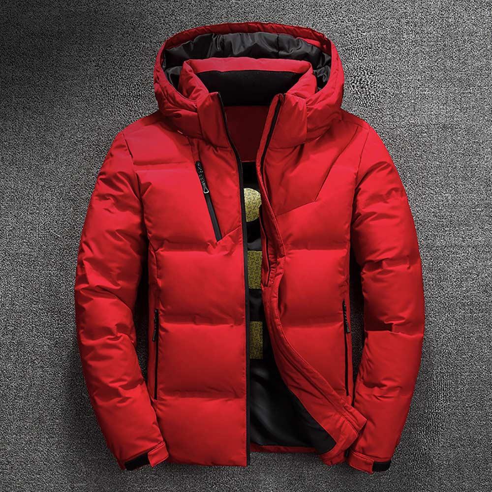 veste doudoune hommes qualité thermique épais manteau neige rouge noir Parka mâle livraison offerte