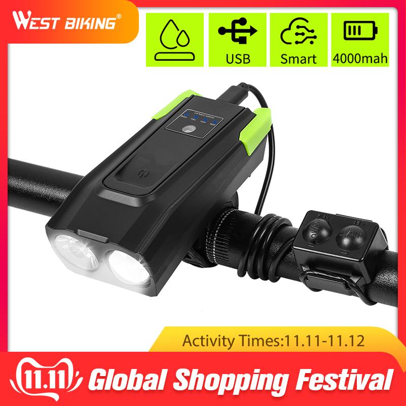 Bike Light, USB rechargeable Cycle phare 4000 m Ah induction vélo (Classe énergétique A) prix discount