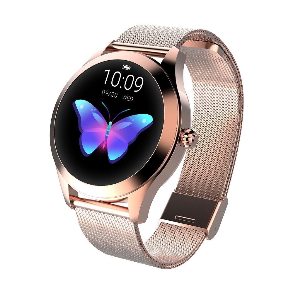 696 KW 10 mode montre intelligente femme Bracelet moniteur de fréquence cardiaque silver steel