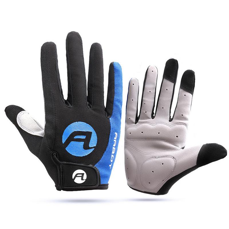 Cyclisme anti-dérapant doigt complet gants vélo gants Pad hommes respirant Anti-choc sport