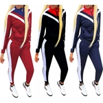 Femmes-Sportswear-d-contract-manches-longues-Gym-v-tements-automne-surv-tement-femmes-Yoga-ensemble-Fitness