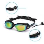 Lunettes-de-natation-professionnelles-lunettes-de-natation-avec-bouchons-d-oreilles-pince-nez-galvanoplastie-Silicone-imperm