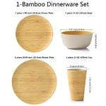 Lekoch-bambou-Fiber-4-pi-ces-pour-1-personne-pique-nique-d-ner-ensemble-bambou-motif