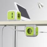 Vert-bleu-MagicCube-4-voies-prise-Cube-avec-2-Ports-USB-prise-ue-chargeur-prise-Multiple