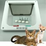 4-voies-verrouillable-chien-chat-chaton-porte-rabat-de-s-curit-porte-ABS-plastique-S-M