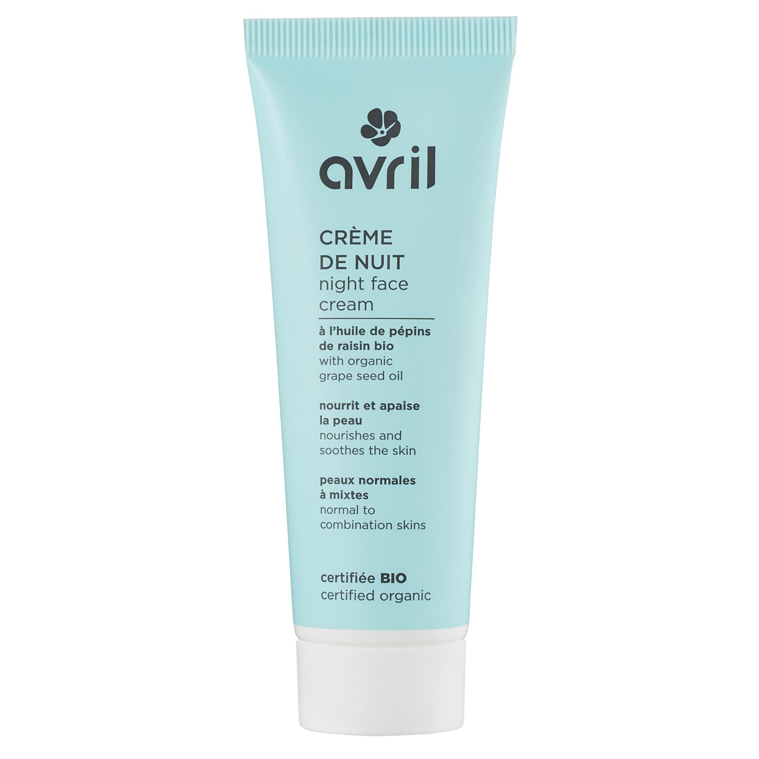 Crème de nuit peaux normales et mixtes - certifiée bio 50 ml