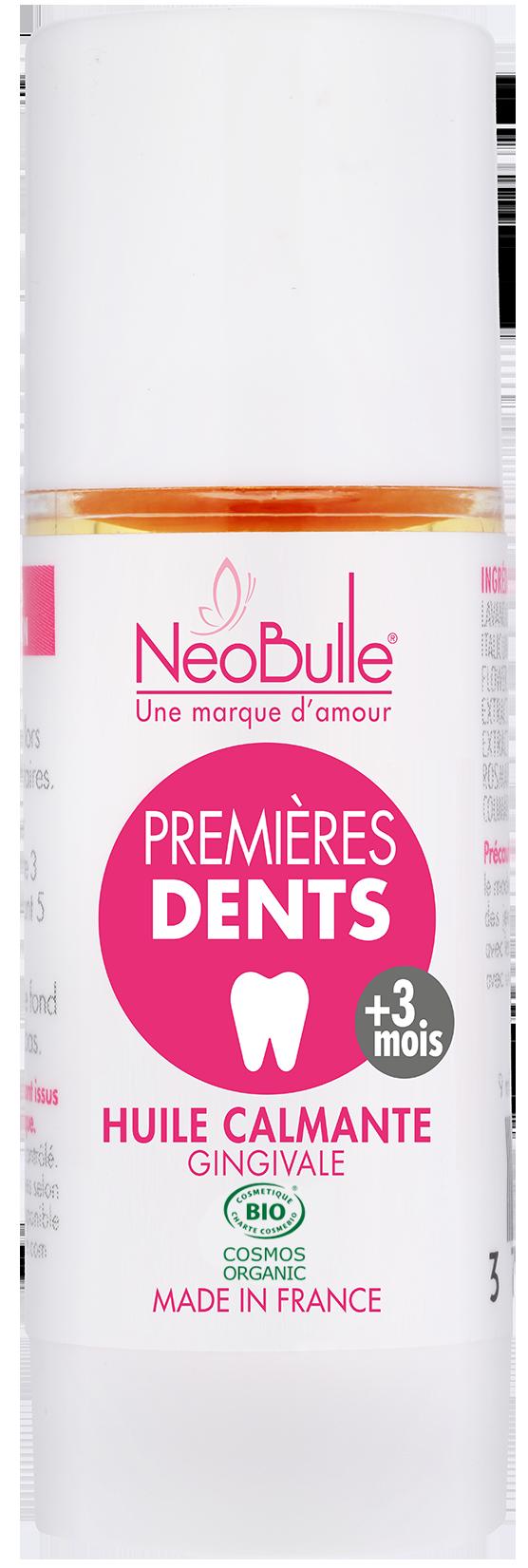 Premières dents, huile calmante gingivale 9 ml