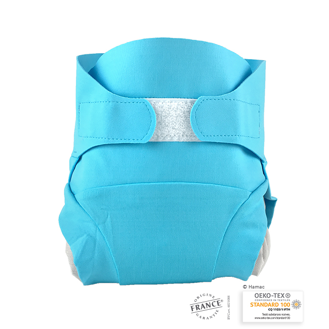 Couche lavable, Bleu Poseidon