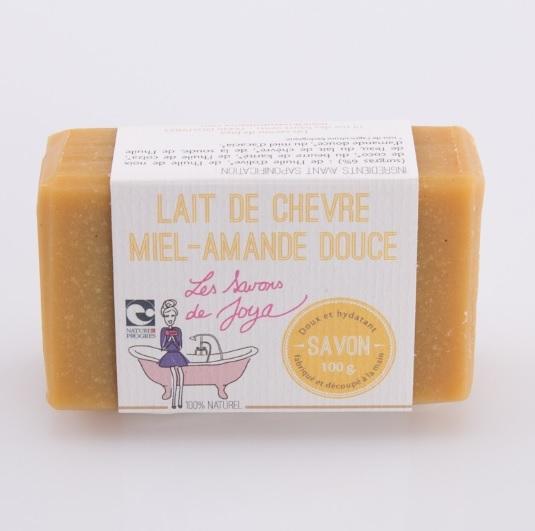 Savon lait de chèvre Miel et Amande douce