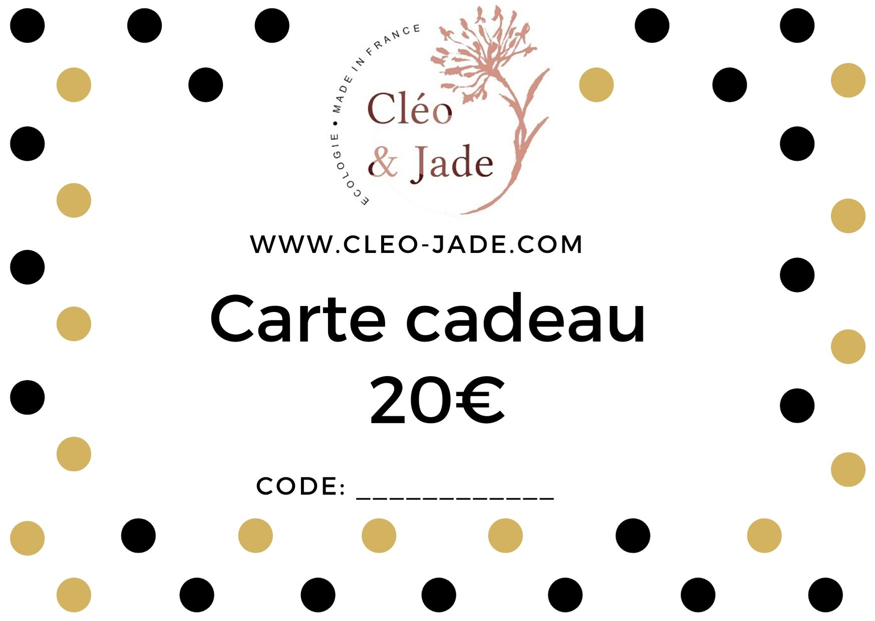 Carte cadeau virtuelle mixte