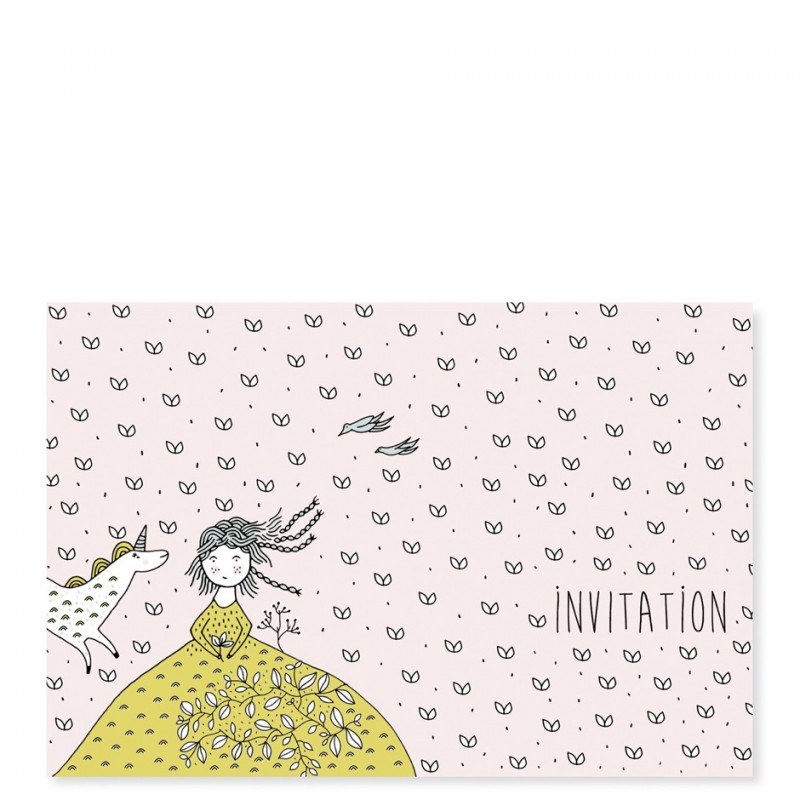 Cartes d\'invitation Licorne