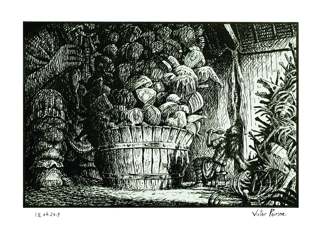 Loki et le géant en duel de festin