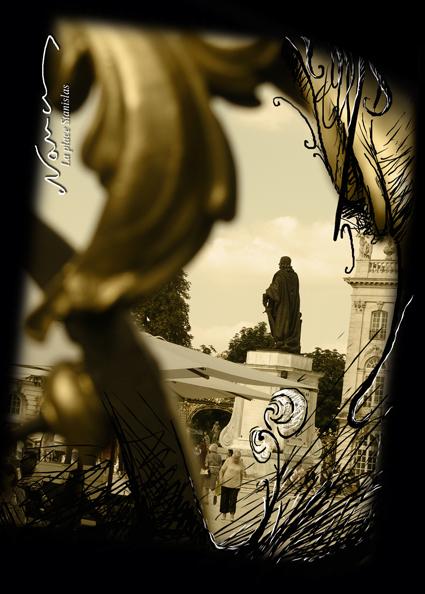 Place Stanislas Statue Sepia Nancy
