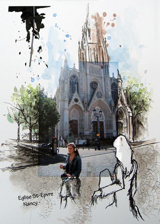 Basilique St Epvre depuis le Ch\'timi Nancy