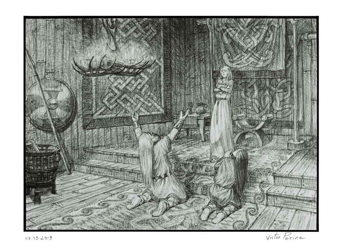 Thor et Loki implorent Freya